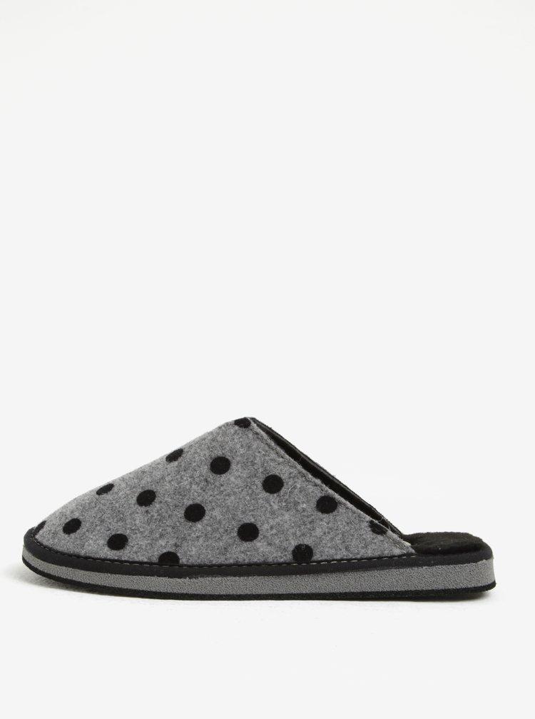 Šedé puntíkované papuče OJJU