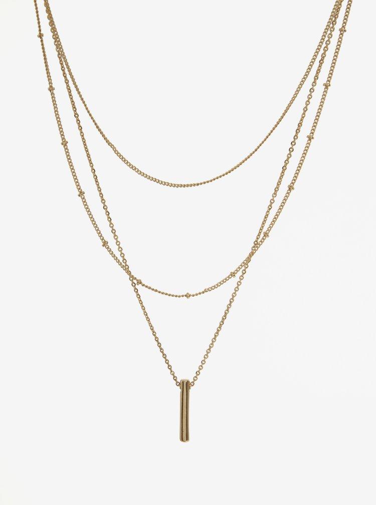 Set de 3 lanturi aurii - Pieces Calfie