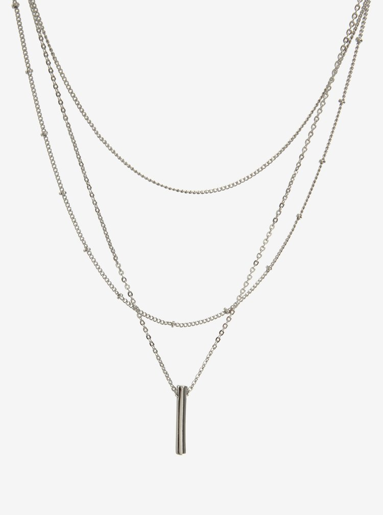 Set de 3 lanturi argintii - Pieces Calfie