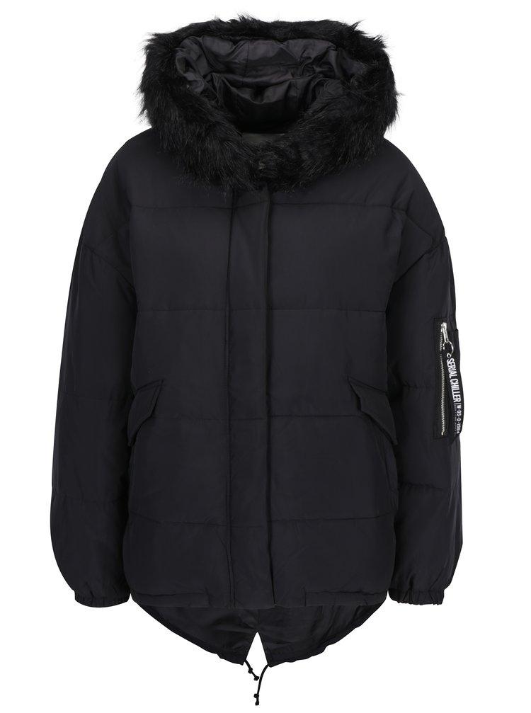 Černá zimní bunda TALLY WEiJL