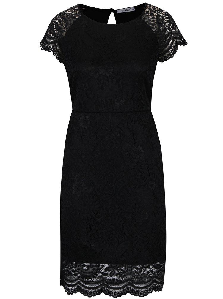 Rochie neagra din dantela cu terminatii ondulate - Haily´s Mara