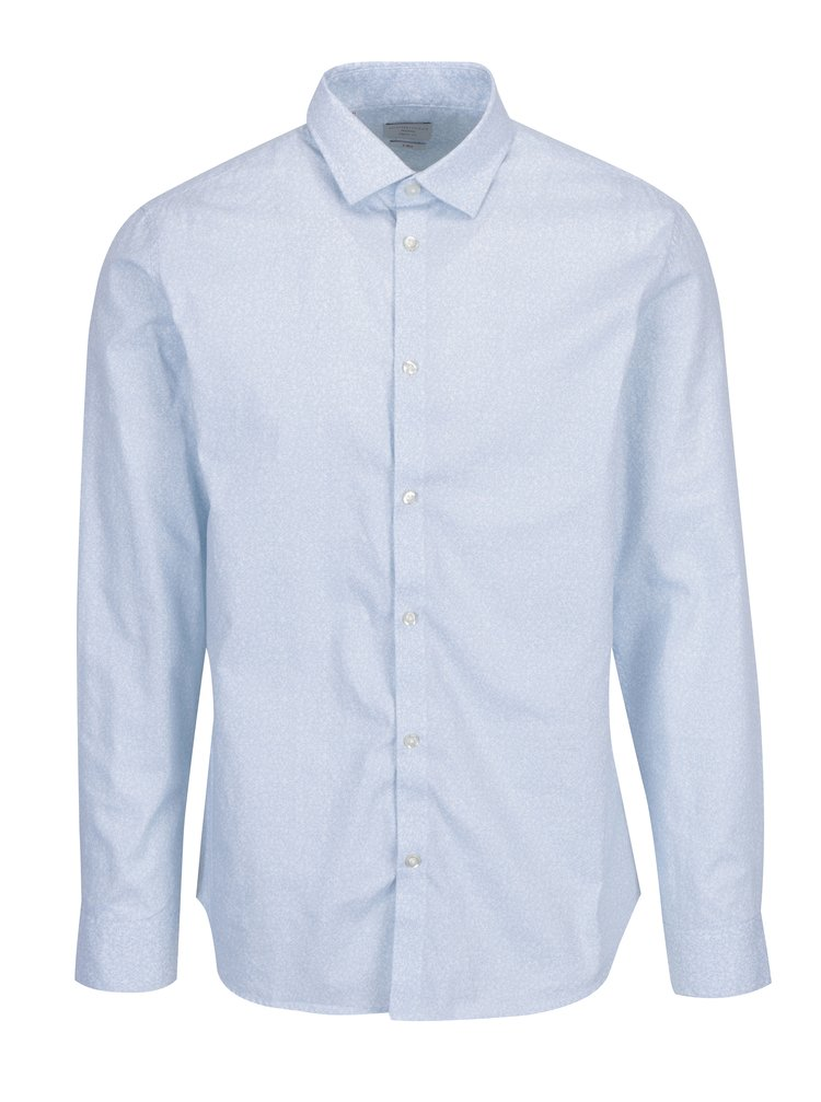 Camasa regular fit bleu din bumbac cu print discret -  Selected Homme One New