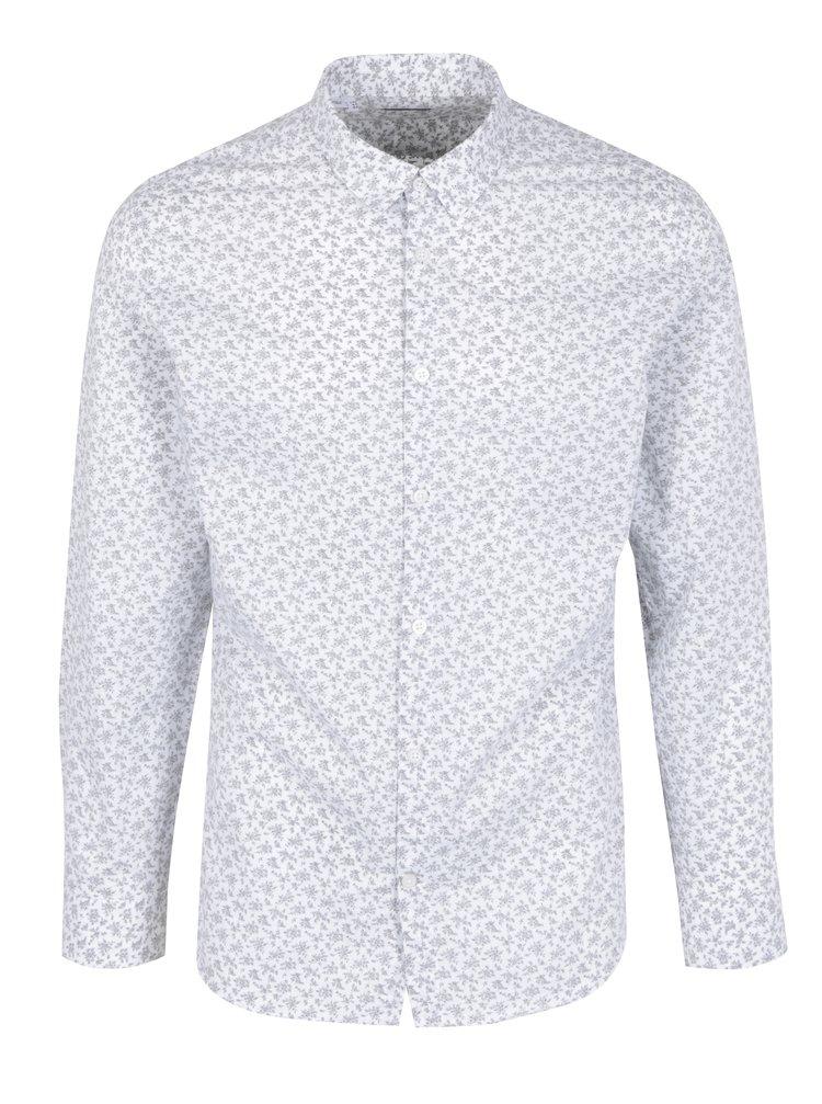 ... Bílá košile s jemným vzorem Selected Homme Doneed 90fbff22de