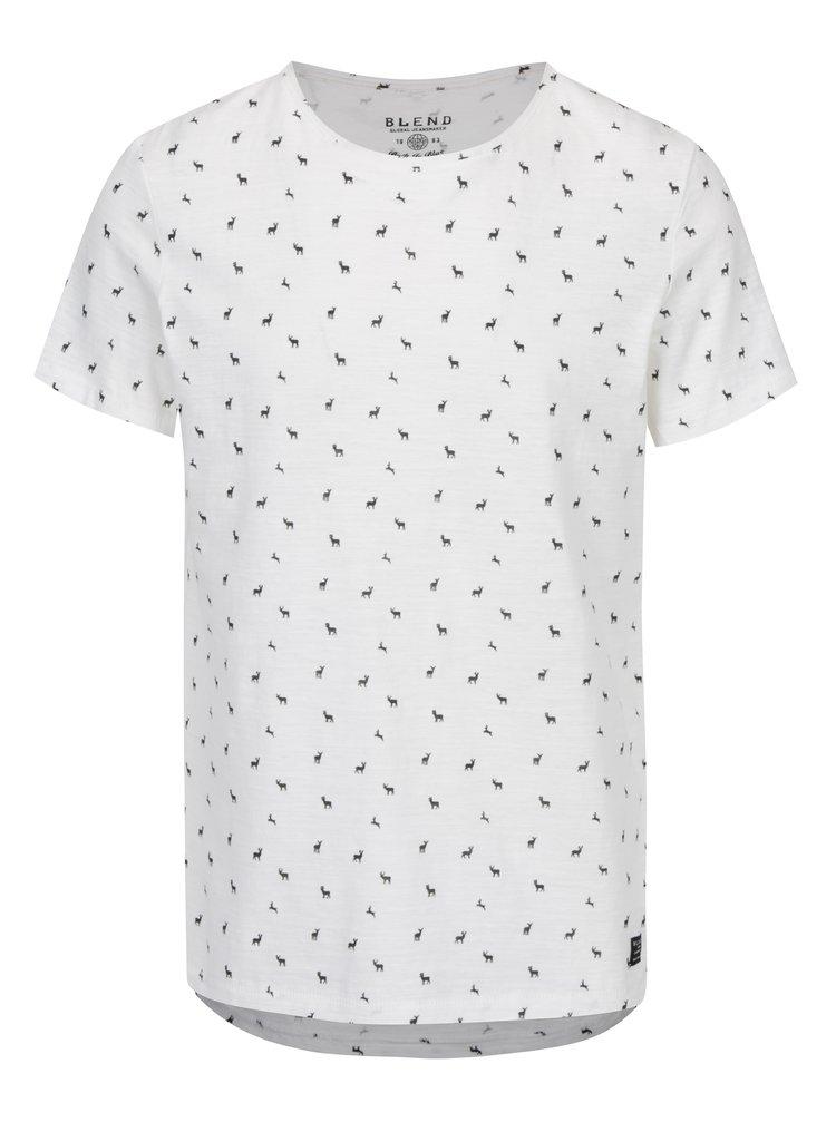 Krémové tričko s jemným vzorem Blend