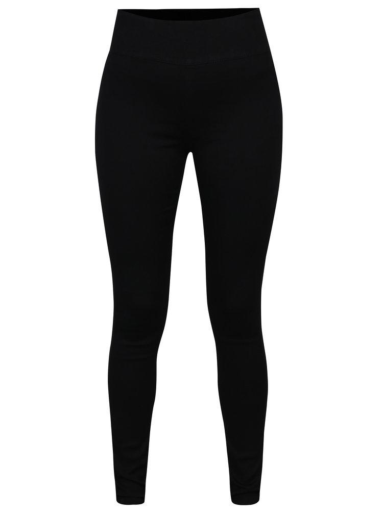 Černé kalhoty s vysokým pasem a zipem na zadní části Jacqueline de Yong Tara