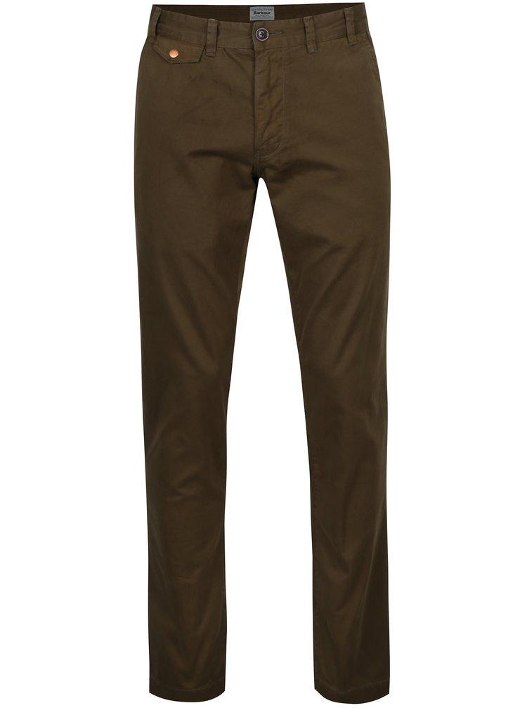 Pantaloni chino kaki regular din bumbac - Barbour Neuston Twill