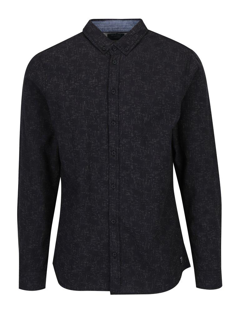 Tmavě šedá vzorovaná slim fit košile Blend