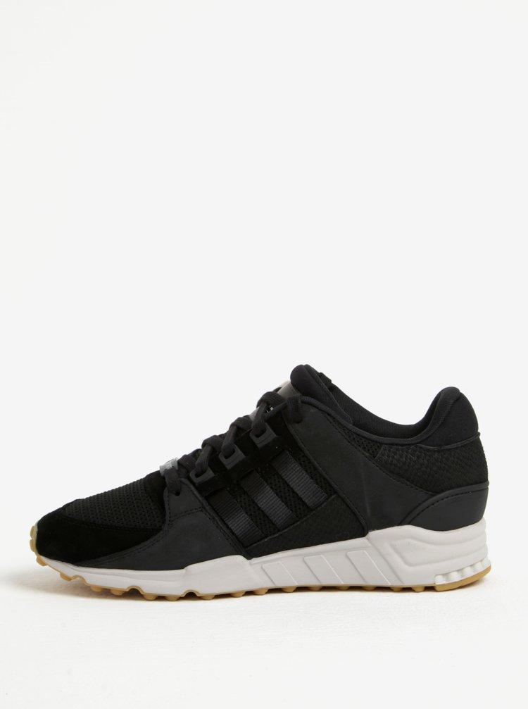 Pantofi sport negru&alb cu detalii din piele pentru barbati adidas Originals Support