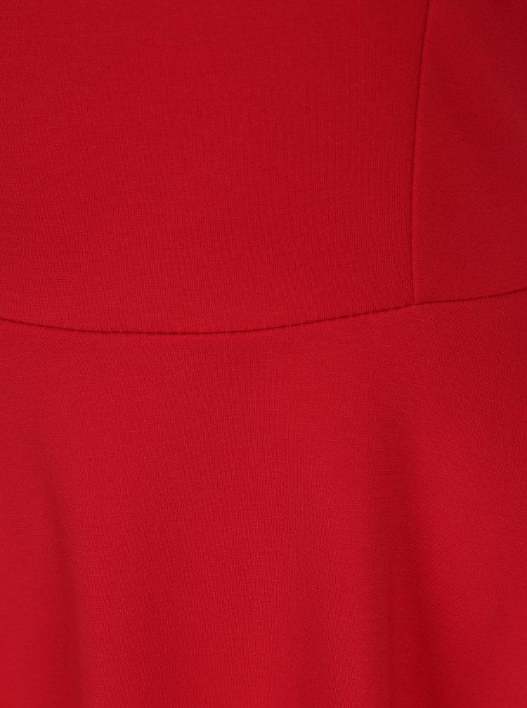 Červené šaty s áčkovou sukňou ZOOT  cc71f91817f