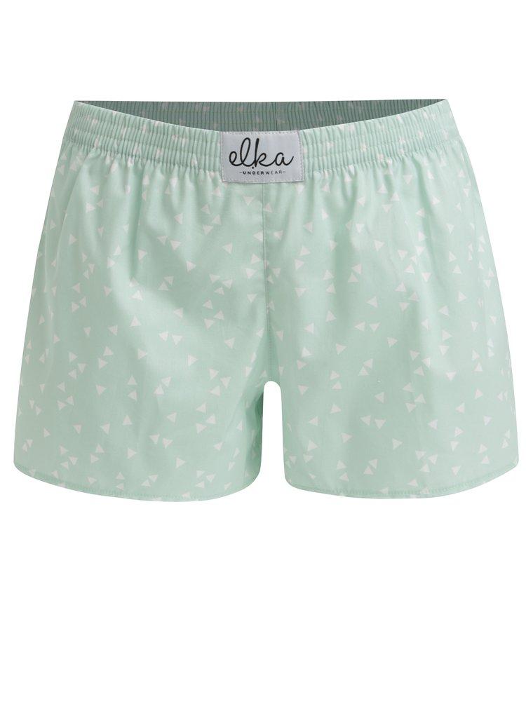 Boxeri verzi cu print pentru femei -  El.Ka Underwear