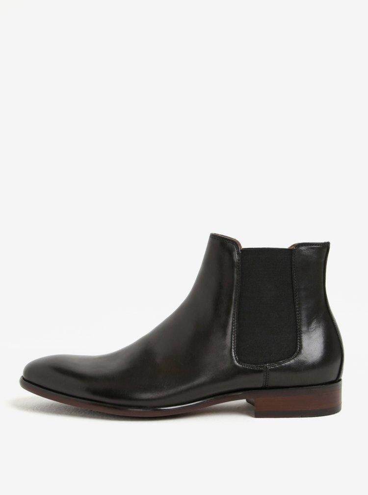 Černé pánské kožené chelsea boty ALDO Aradowen