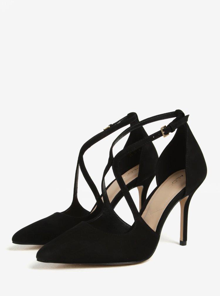 bf6f7b7dcf Černé semišové sandálky ALDO Loverani · Černé semišové sandálky ALDO  Loverani