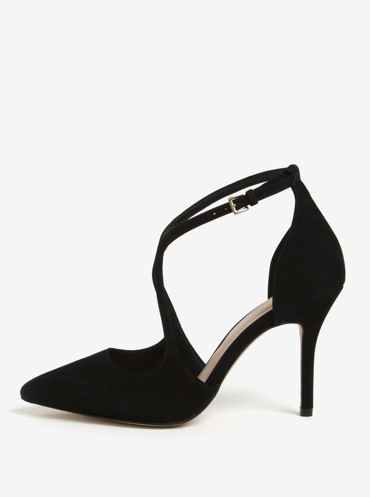 Černé semišové sandálky ALDO Loverani