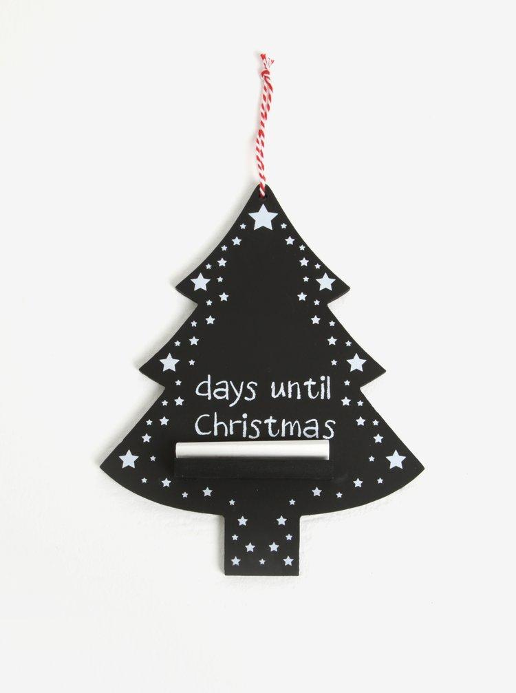 Malá černá tabule ve tvaru vánočního stromečku Sass & Belle