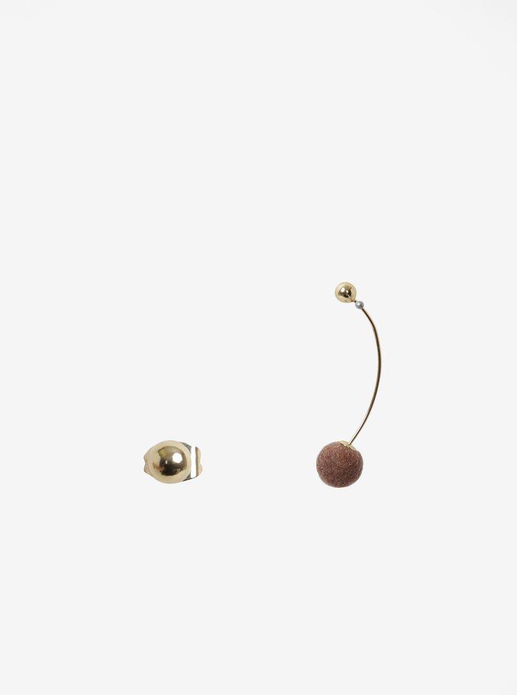 Cercei cu bile aurii - Pieces Aline