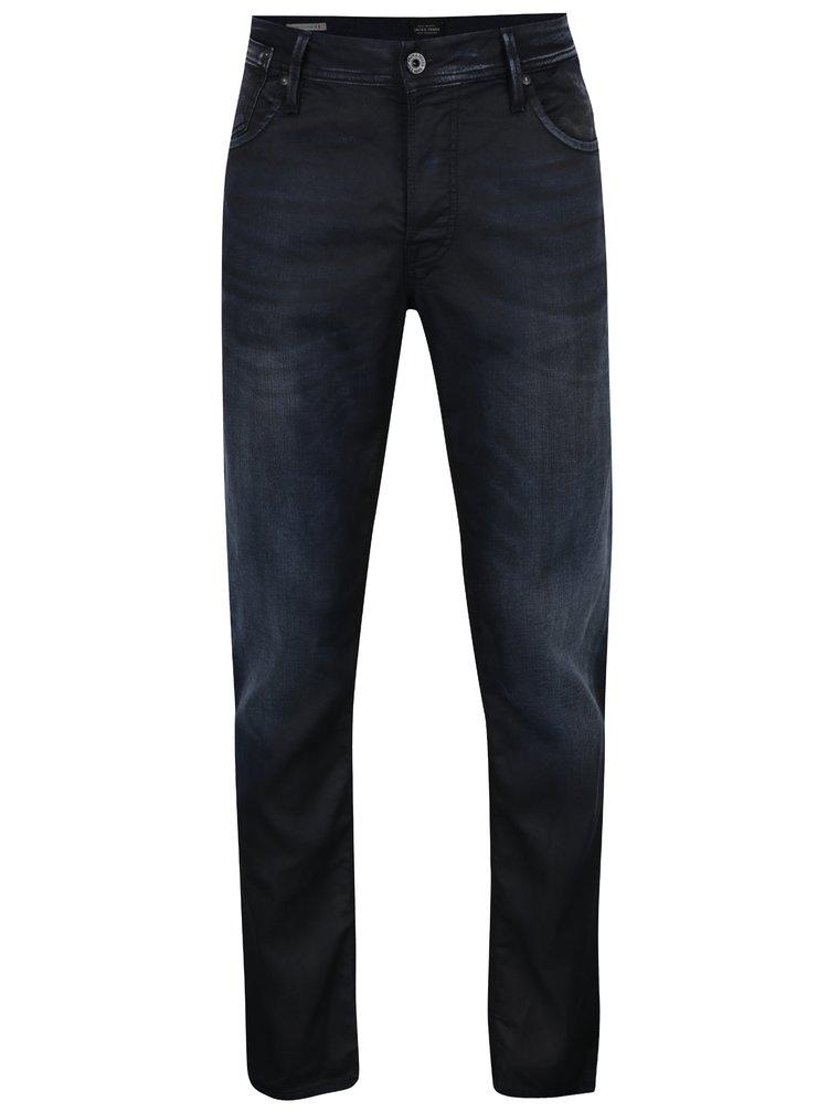 Tmavě modré džíny s vyšisovaným efektem Jack & Jones Tim