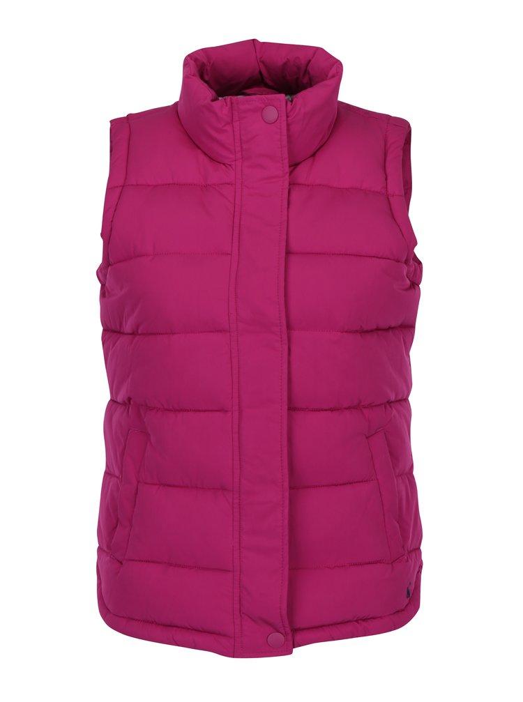 Tmavě růžová dámská prošívaná vesta Tom Joule Eastleigh