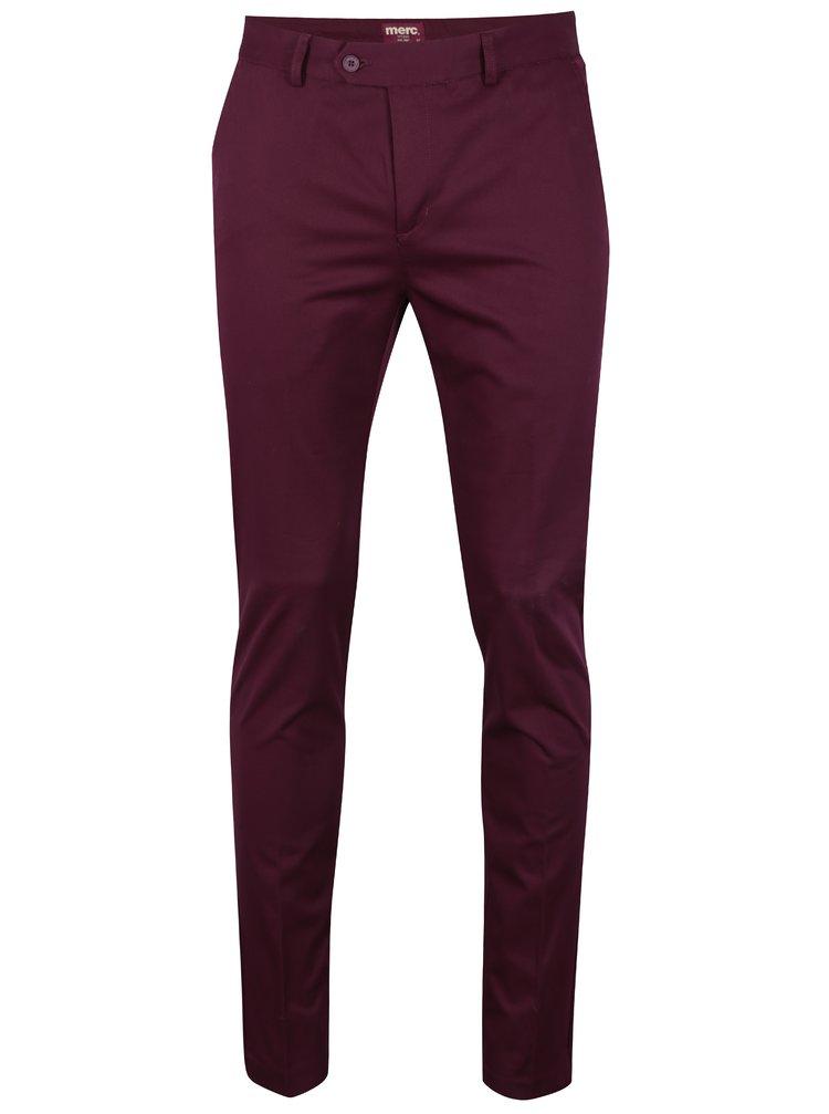 Vínové chino kalhoty Merc