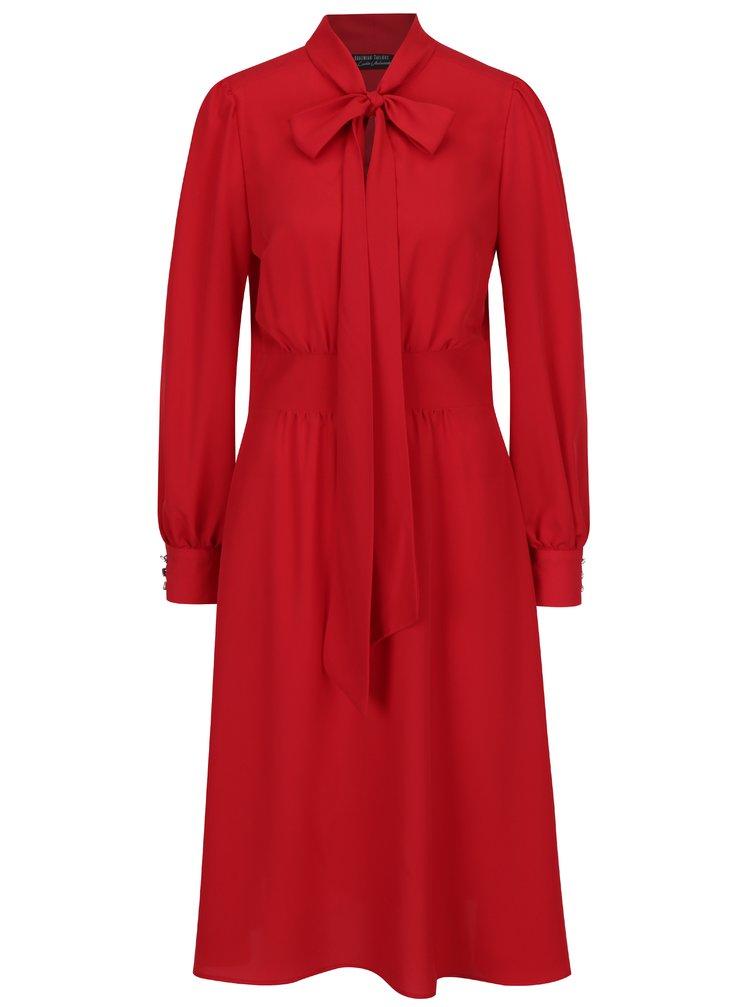 Červené šaty s dlouhým rukávem Bohemian Tailors Bera