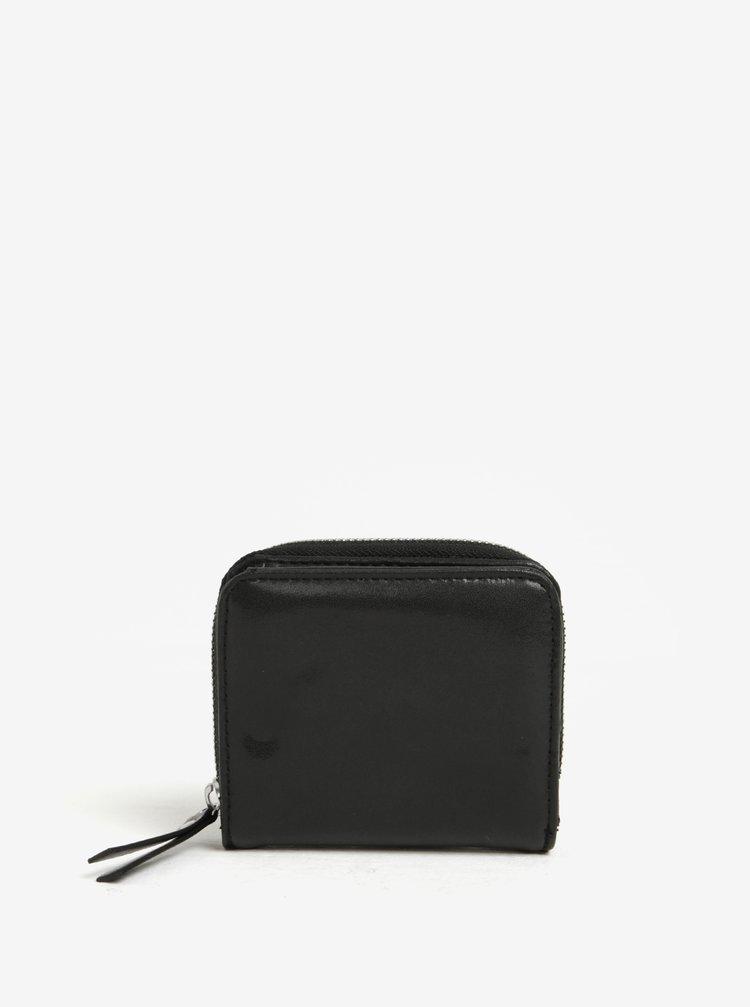 Černá peněženka na zip Pieces Andrea