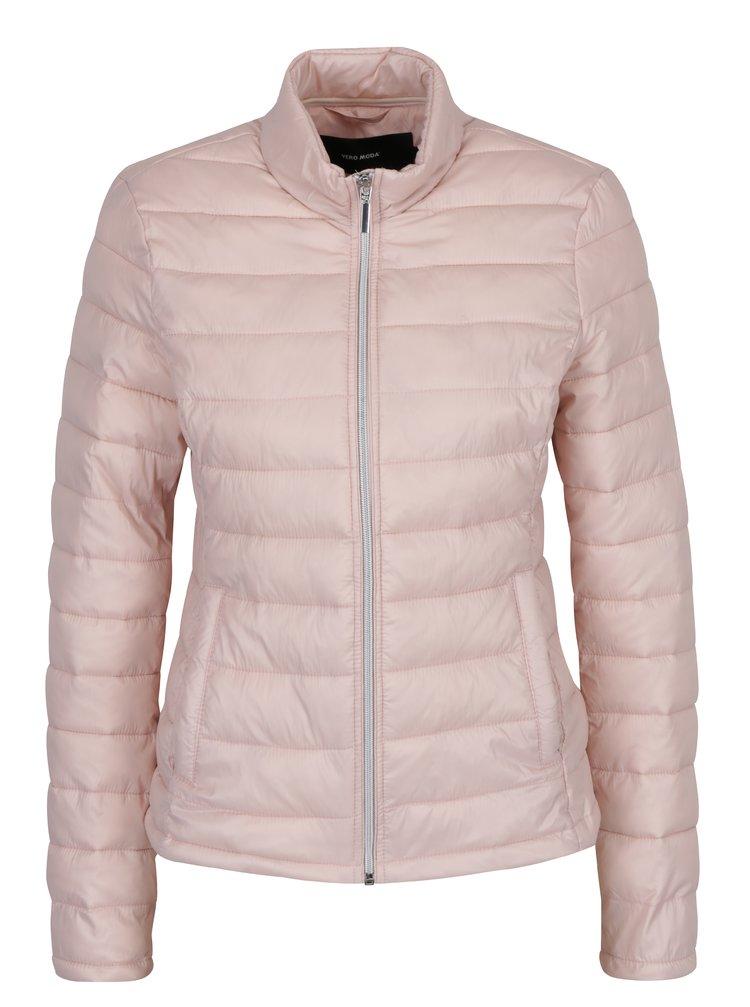 Světle růžová prošívaná bunda VERO MODA Soraya