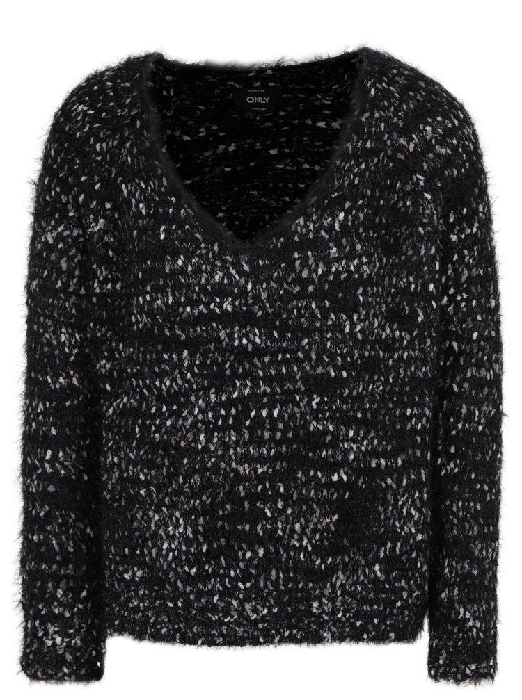 Šedo-černý svetr ONLY Poppy