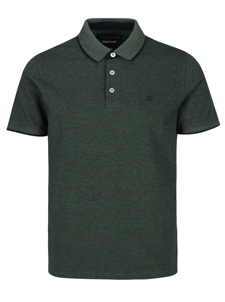 Zelené polo tričko Jack & Jones Paulos Premium