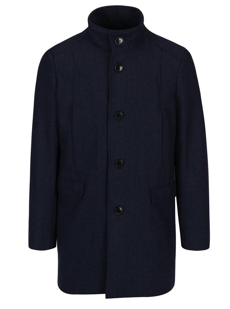 Palton bleumarin din amestec de lana pentru iarna - Selected Homme Mosto