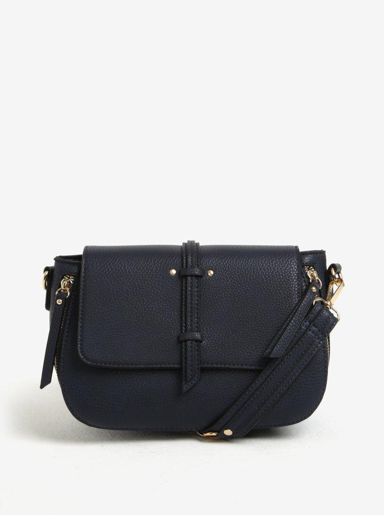 Tmavomodrá crossbody kabelka s jemným vzorom Bessie London