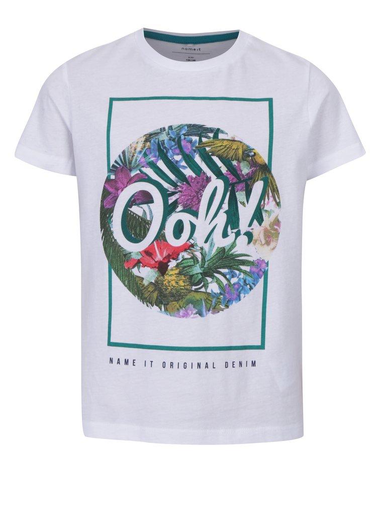 Bílé klučičí tričko s potiskem name it Surf