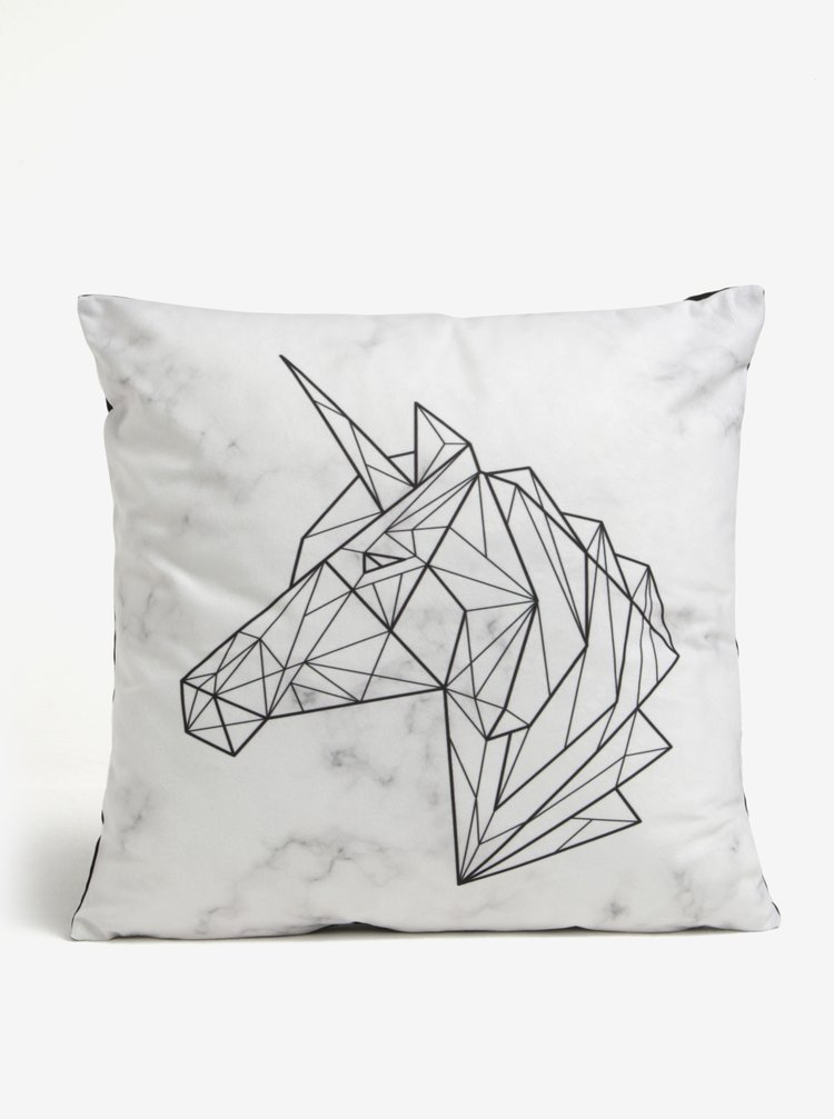 Perna decorativa crem cu unicorn stilizat - Butter Kings
