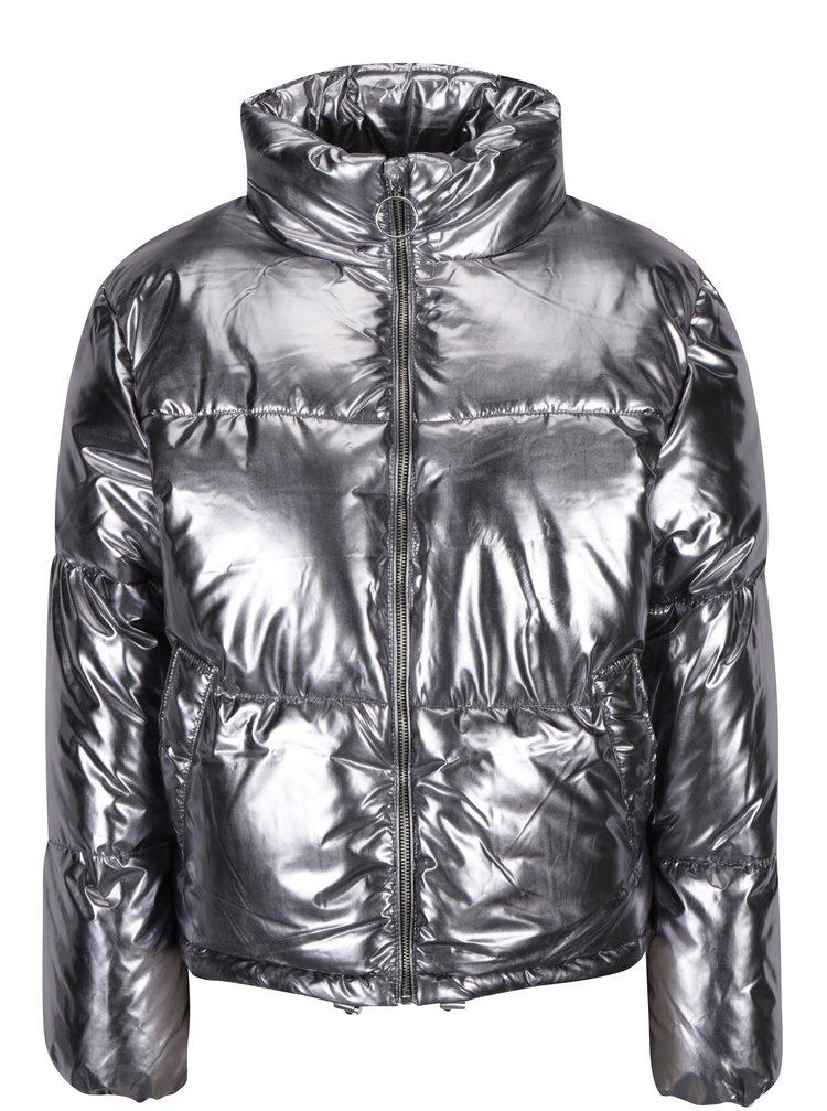 Zimná prešívaná bunda v striebornej farbe TALLY WEiJL