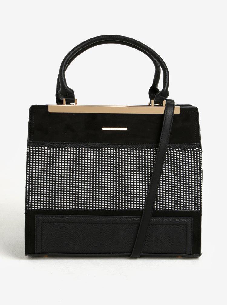 Čierna vzorovaná kabelka do ruky Bessie London