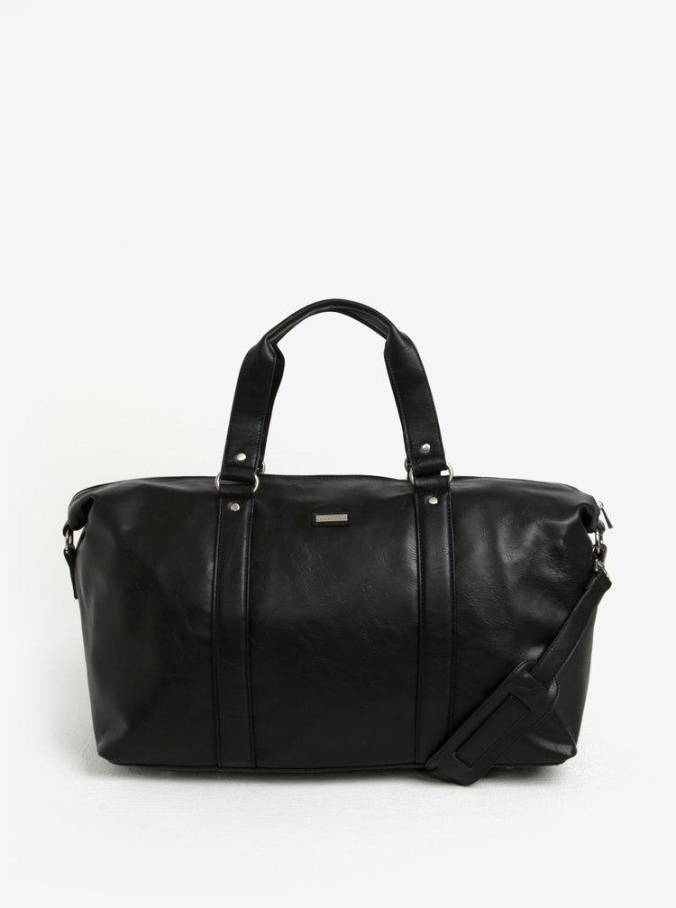 Černá cestovní taška s kapsou na notebook Bobby Black