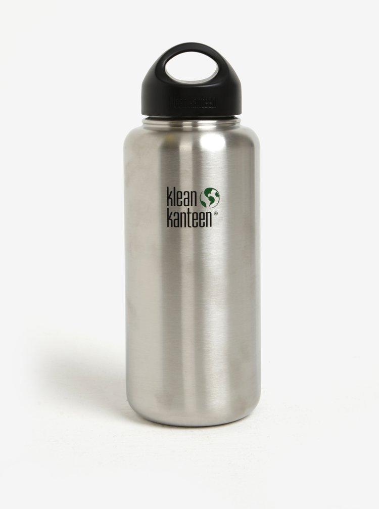 Nerezová lahev ve stříbrné barvě Klean Kanteen Wide 1182 ml