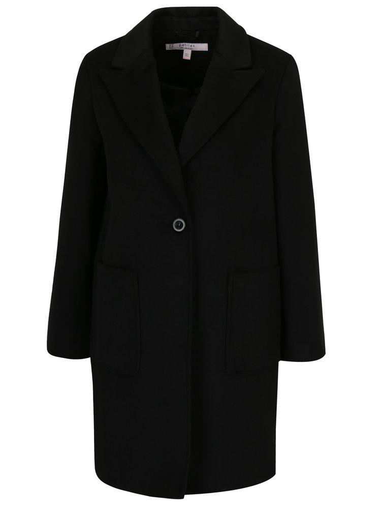 Černý kabát Miss Selfridge Petites