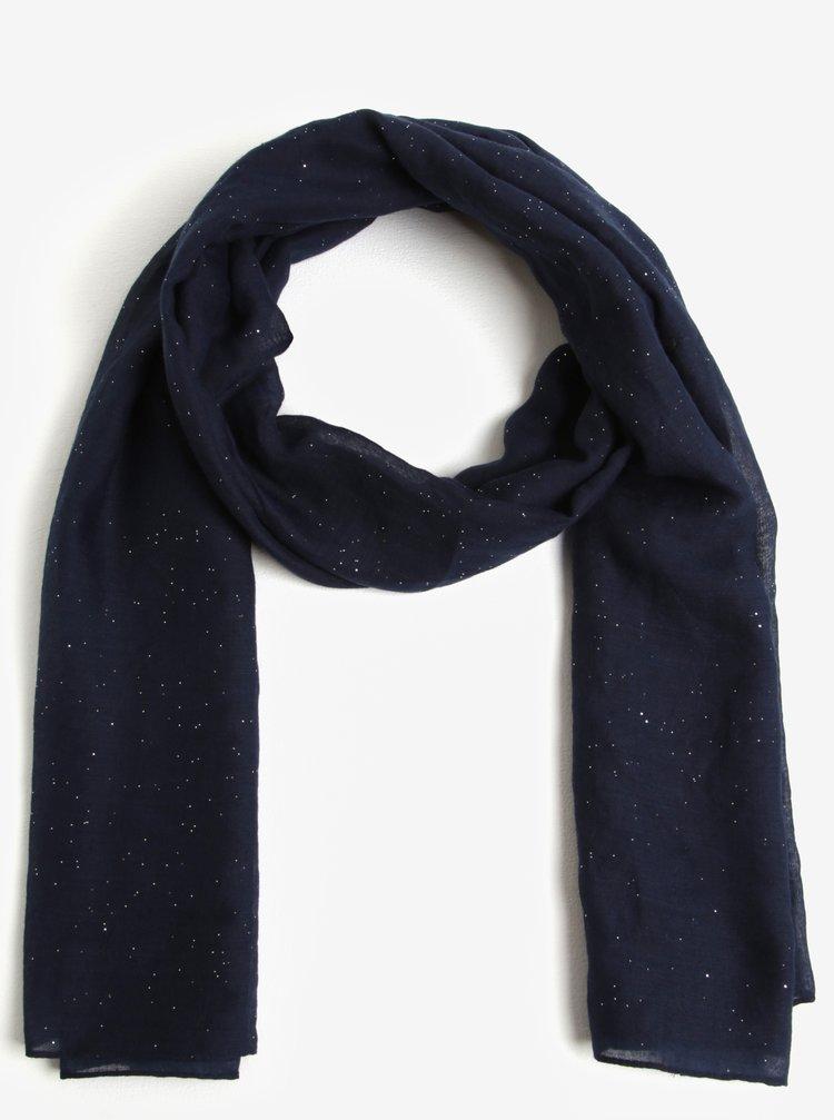 Tmavě modrý třpytivý šátek Dorothy Perkins