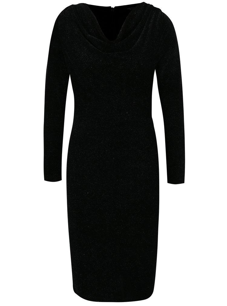 Černé třpytivé sametové šaty Dorothy Perkins