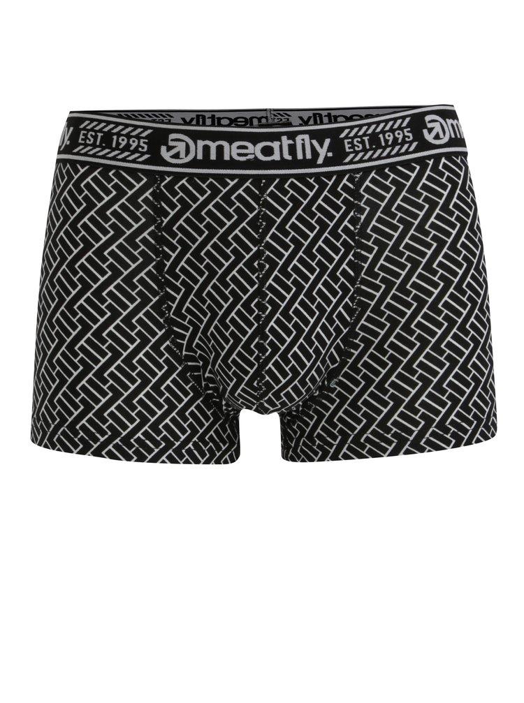 Černé vzorované boxerky MEATFLY Balboa