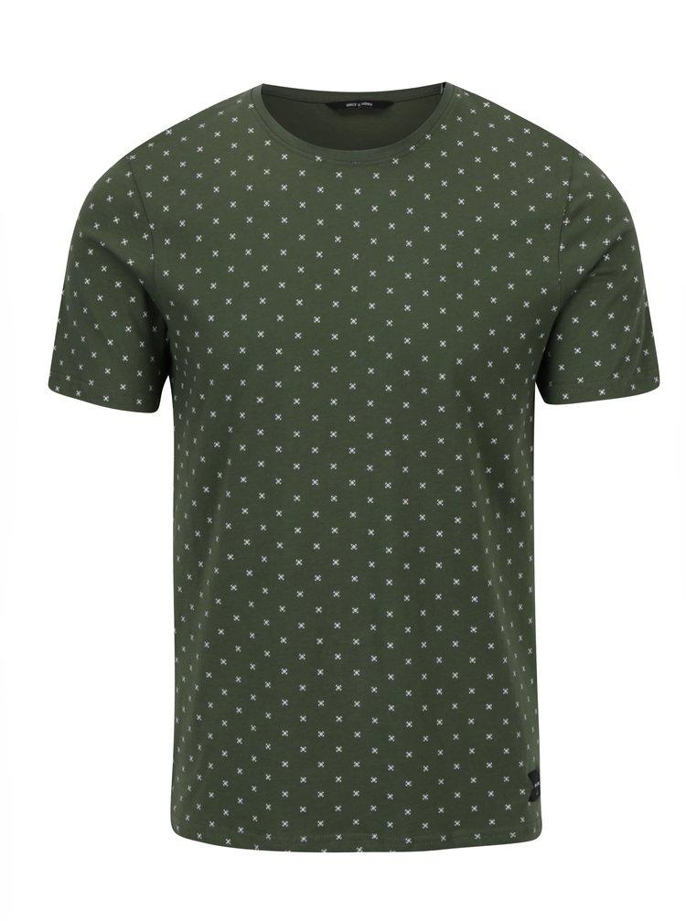 Tricou verde cu buline - ONLY & SONS Morten