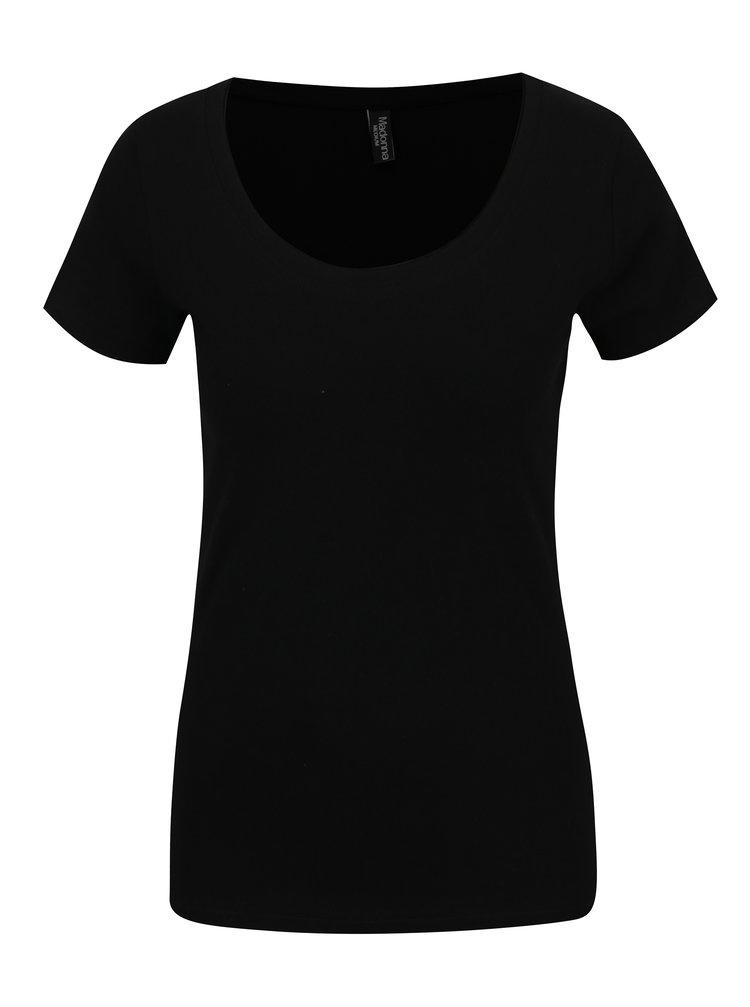 Černé basic tričko s krátkým rukávem Madonna