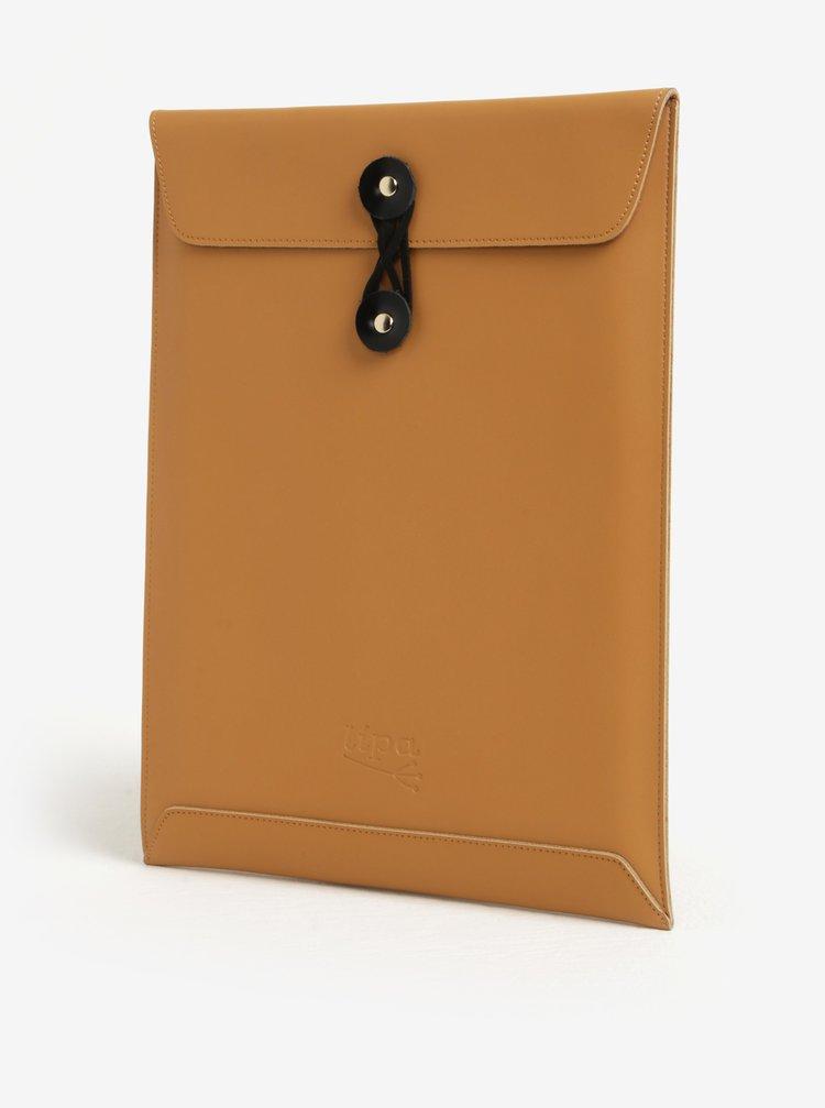"""Husa maro din piele pentru notebook - Lipa 11"""""""