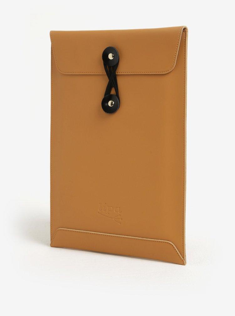 "Černo-hnědý kožený obal na notebook Lípa 13"""