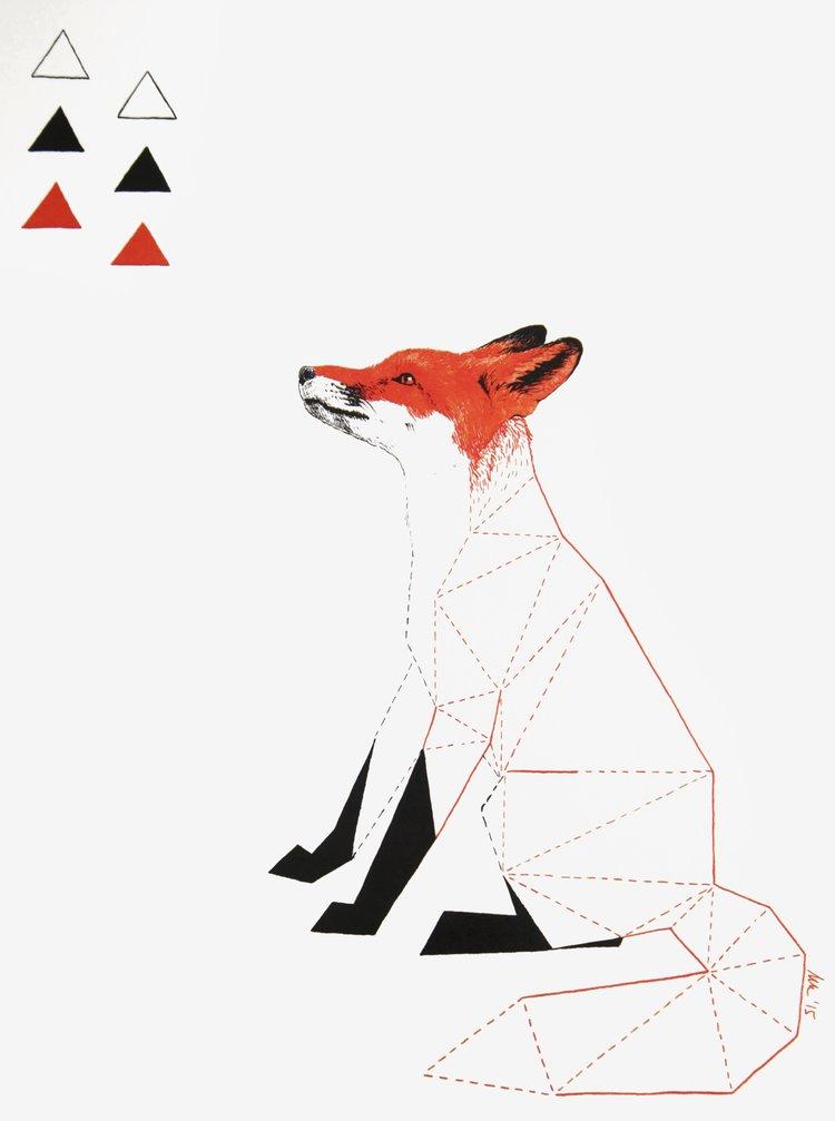 "Poster ""Povestea padurii din Boemia"" vulpe - Lípa A3"