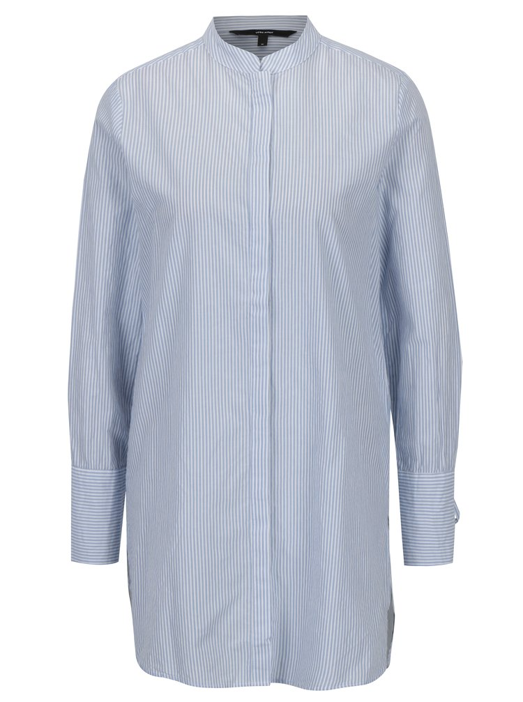 Modro-bílá dlouhá košile VERO MODA Juljane