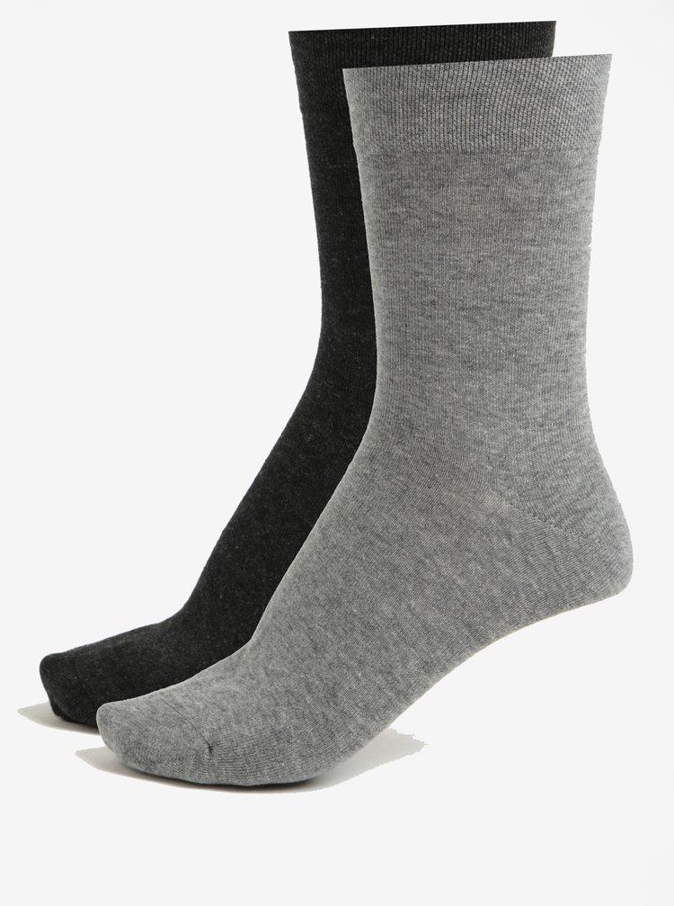 Súprava dvoch párov unisex ponožiek v sivej farbe JELL
