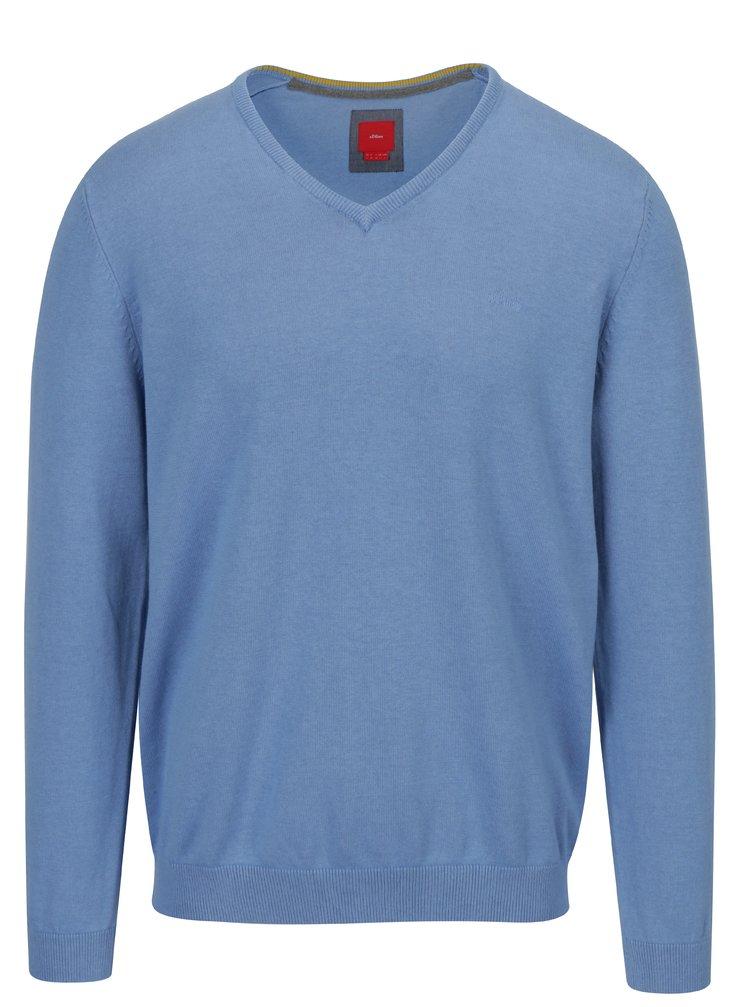 Pulover albastru deschis cu logo brodat  s.Oliver