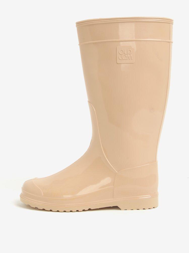 Cizme de ploaie bej pentru femei Oldcom Classic