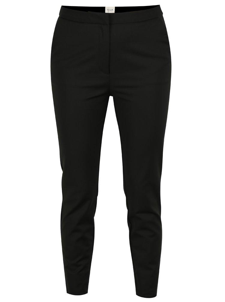 Černé zkrácené kalhoty VILA Killa