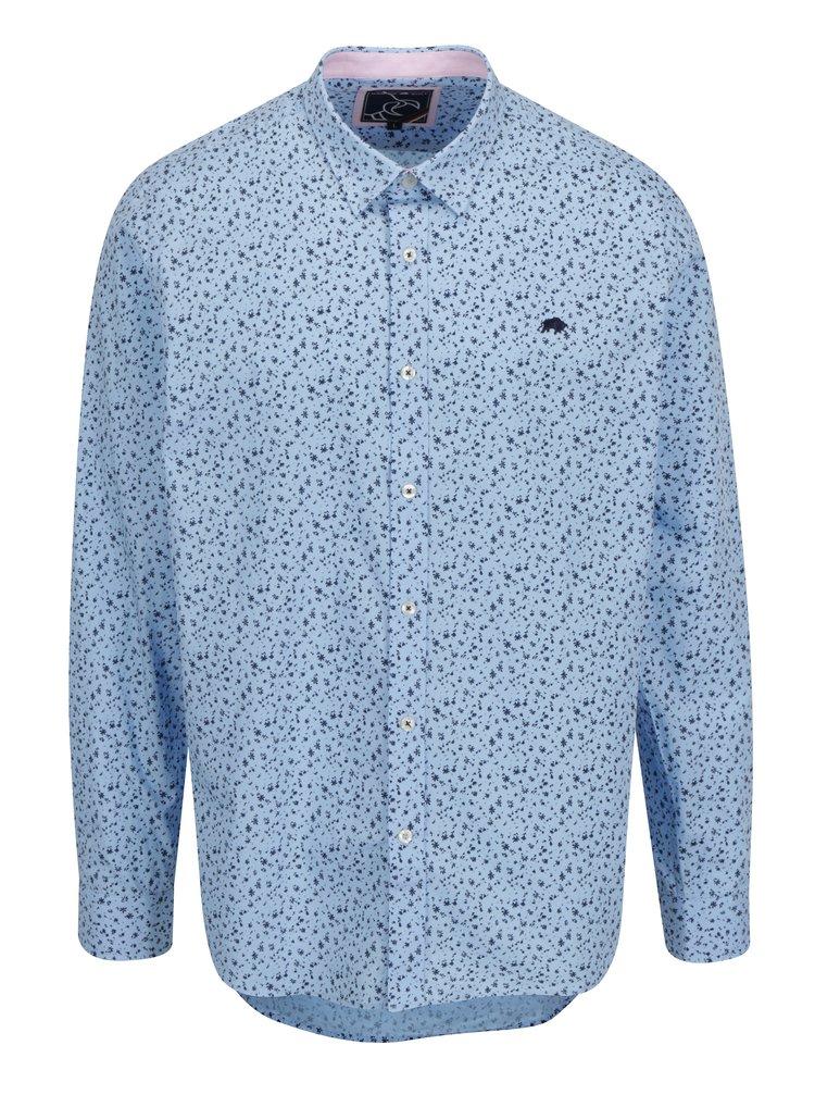 Svetlomodrá kvetovaná košeľa Raging Bull